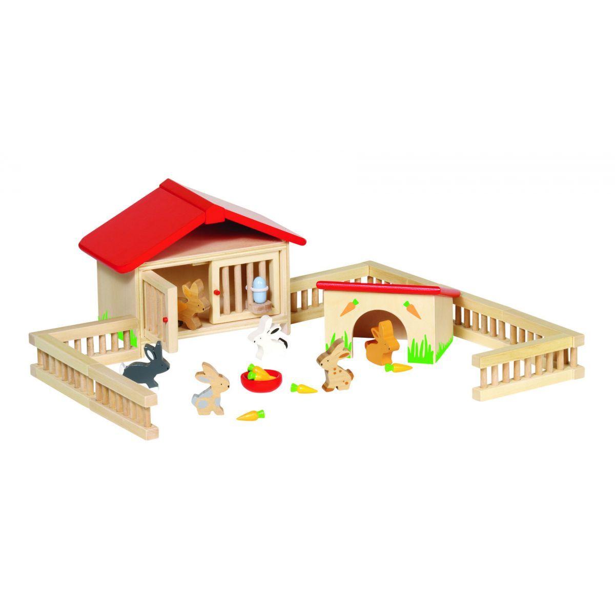 Clapier en bois avec accessoires  partir de 3 ans Goki