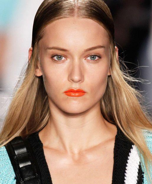 cool orange lip color