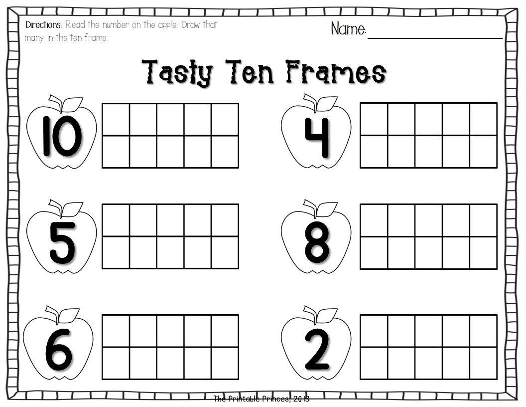 Pin By Casey Skeldon On M Learning Kindergarten Worksheets Fall Kindergarten Kindergarten Math Ten Frames [ 816 x 1056 Pixel ]