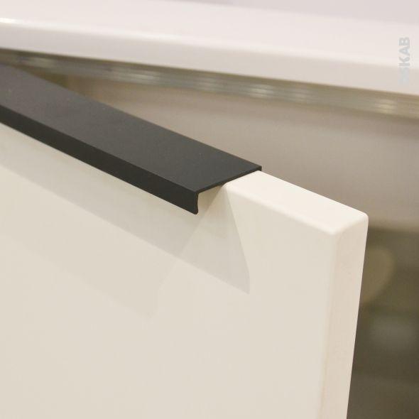 Poign e de meuble de cuisine n 36 noir 20 cm entraxe 64 - Poignee de porte pour meuble de cuisine ...