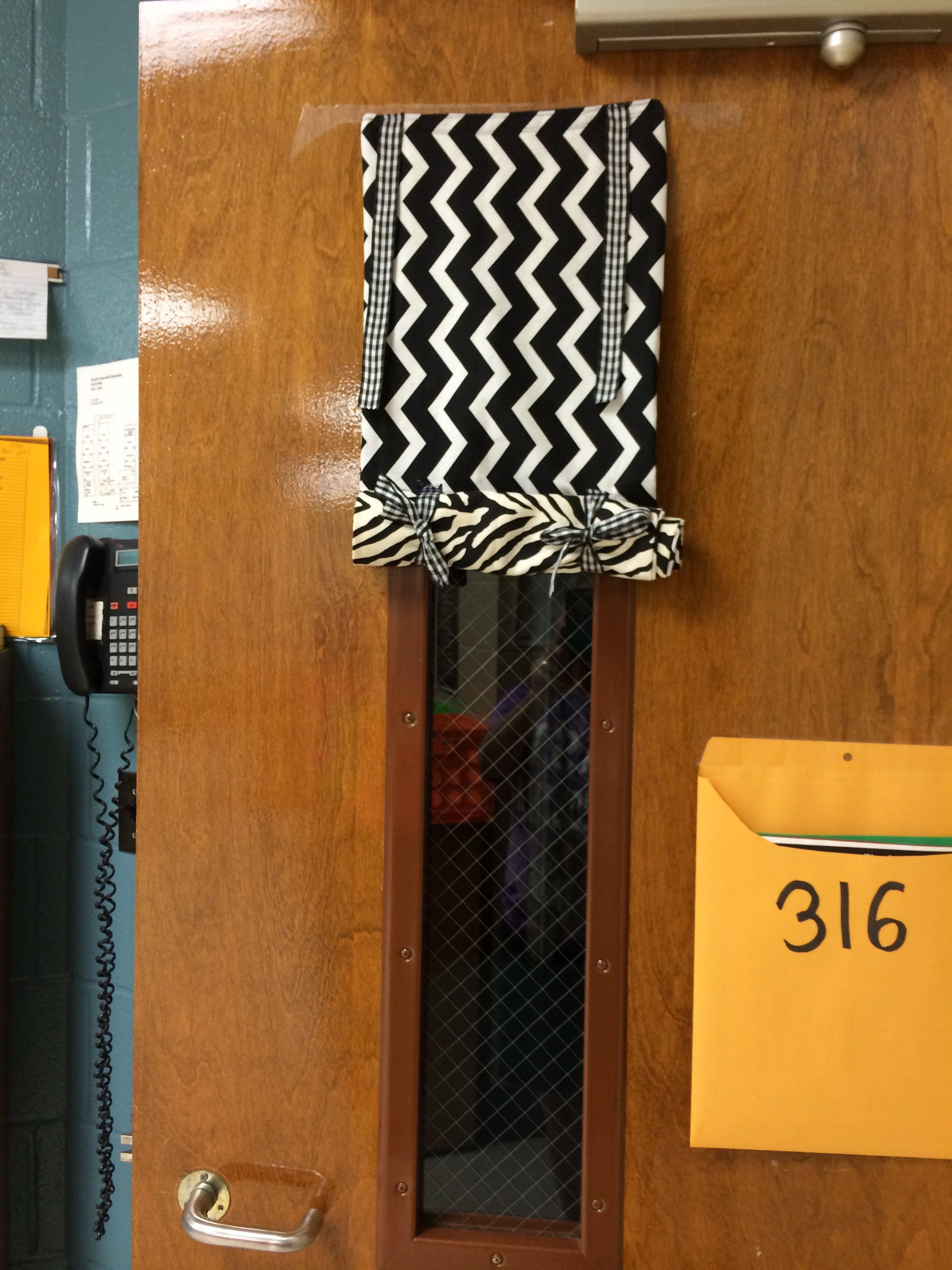 classroom door curtain for lock down