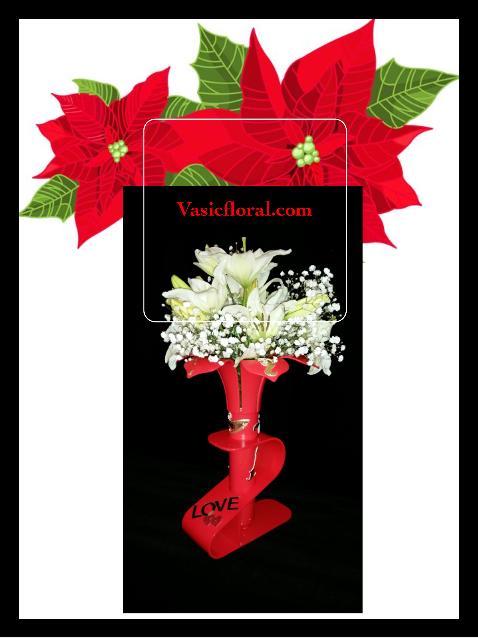 May the spirit of Christmas Enfold you in it's peace#vasicfloral.comholiday#christms#joy# gingle #happy
