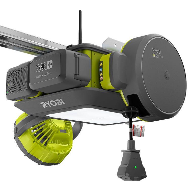 RYOBI Smart Garage Door Opener Has A Fan , Laser Beams