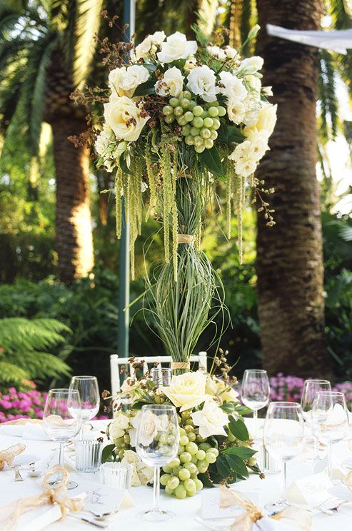Truly amazing tall wedding centerpiece ideas green