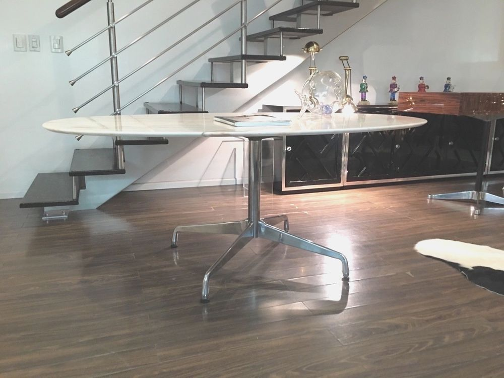 Charles Eames Herman Miller Dining Table Conference Desk Carrera Florence Knoll