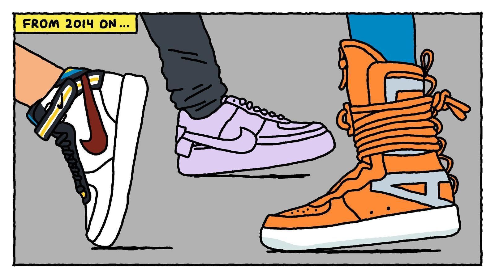 12 illustrazioni raccontano la storia delle Nike Air Force 1   Air
