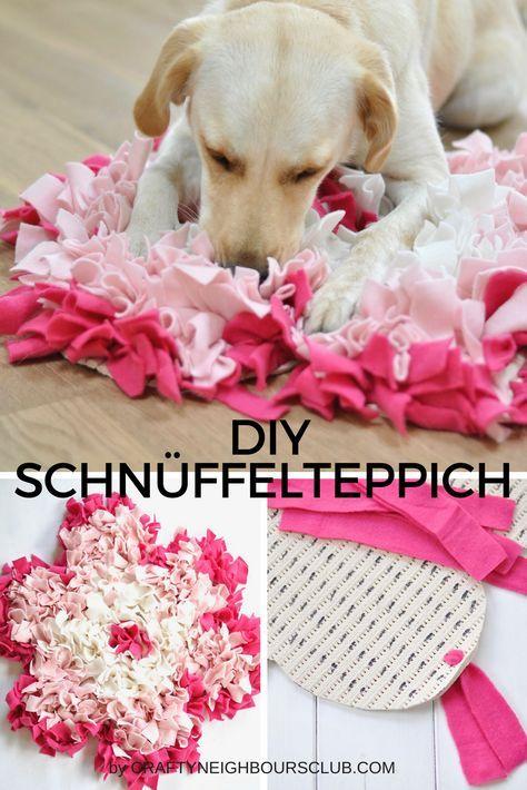 DIY Schnüffelteppiche für den Hund selbstgemacht als Pfote und Blüte