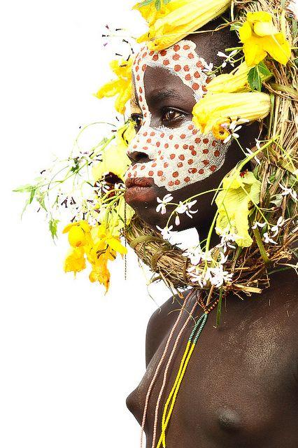surma girl close kibbish village - ethiopia by abgefahren2004, via Flickr