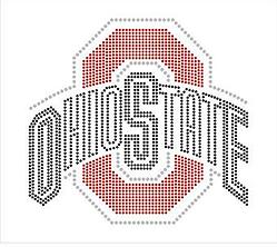 Ohio State University Rhinestone Transfer
