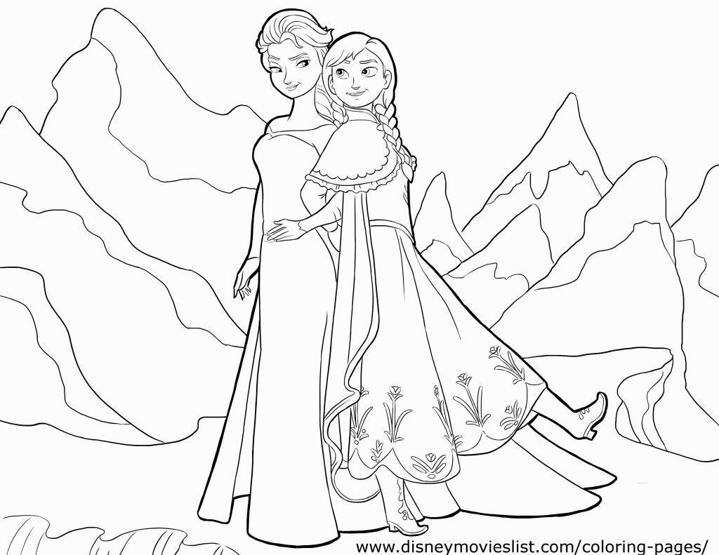 Coloring Pages Frozen Sketsa Kartun Warna