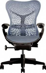 mirra chair fully featured blue fog on graphite by herman miller for