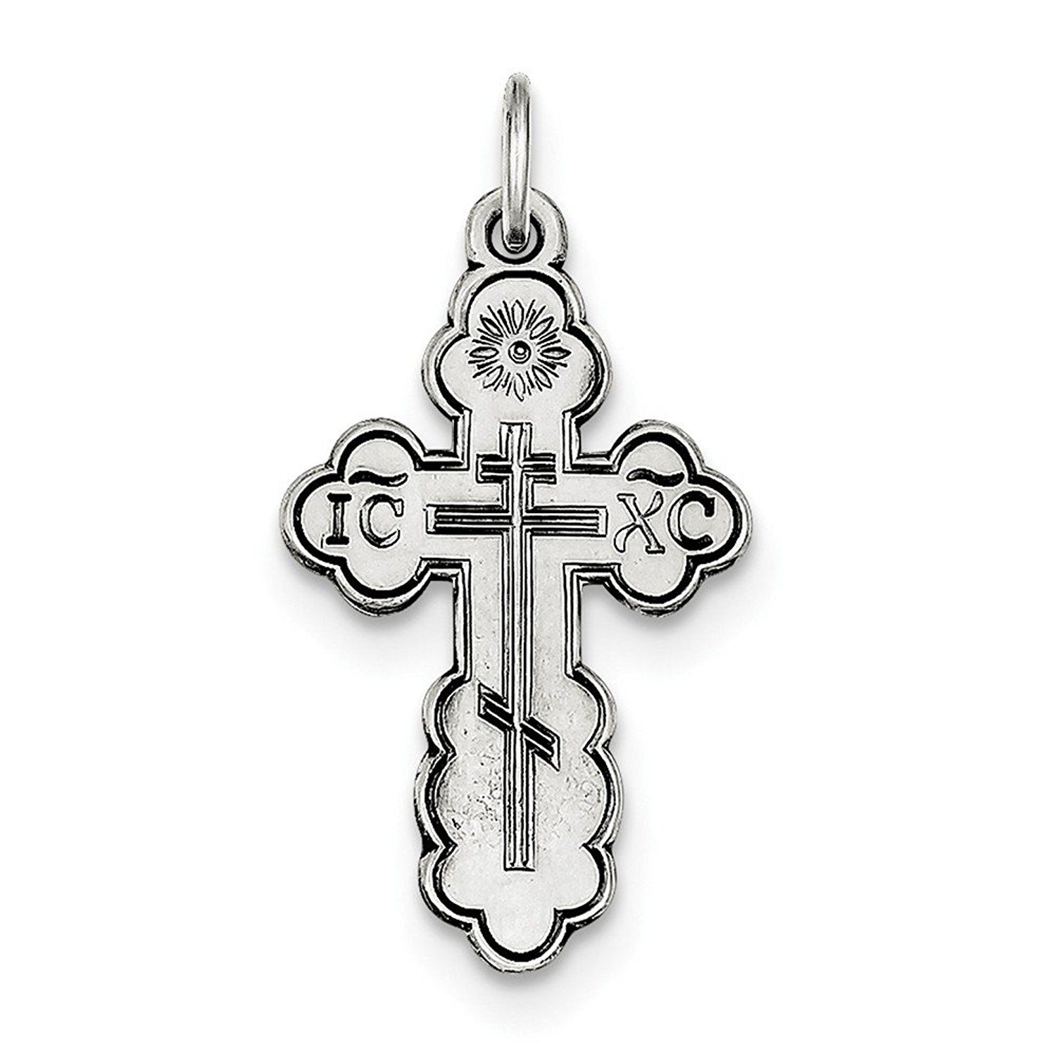 Roy rose jewelry sterling silver eastern orthodox cross charm roy rose jewelry sterling silver eastern orthodox cross charm visit the image link buycottarizona