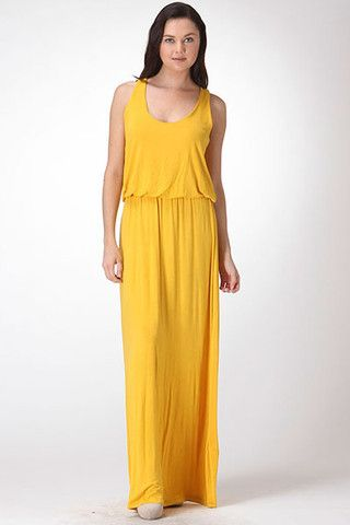 Yellow racerback dress