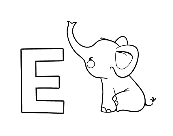 Dibujo del Abecedario   Letra E para colorear | letras | Learn