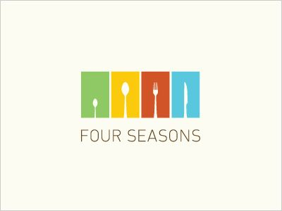 four seasons food logo 25 cool creative fast food drink logos for inspiration logos pinterest