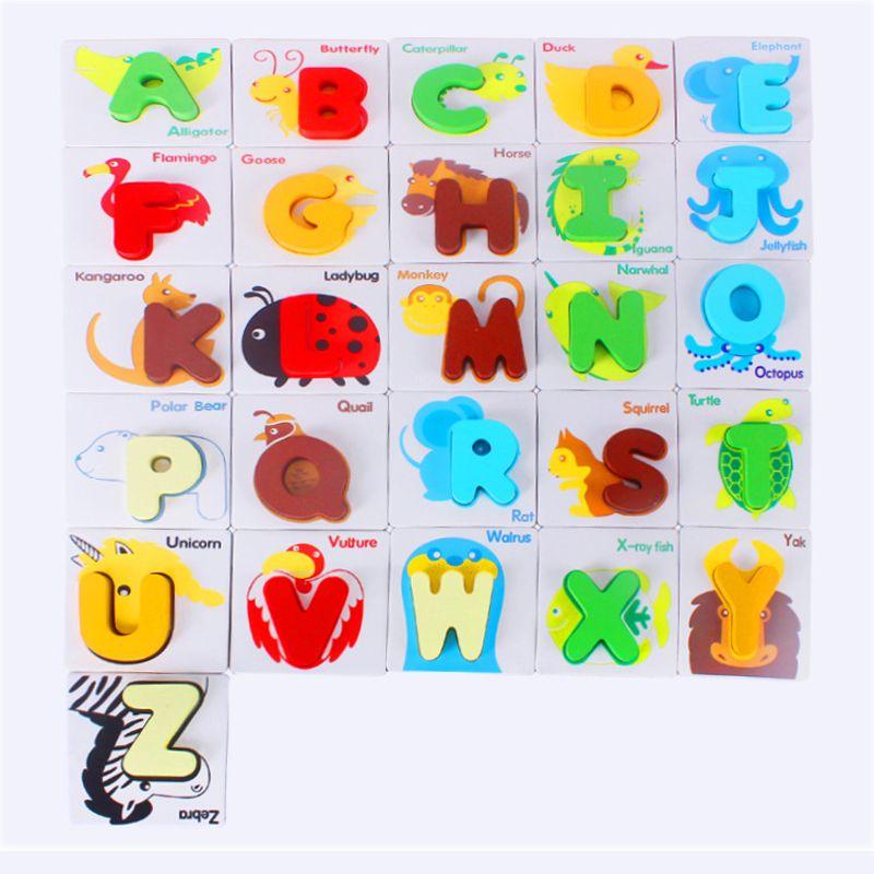 Juguetes 52 Madera Alfabeto De Montessori Inglés Puzzles Unidsset kOPXnw80N
