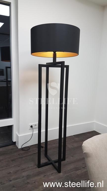 Staande Design Lamp.Staande Stalen Lamp Roukens Steellife Stalendeuren Steeldoors