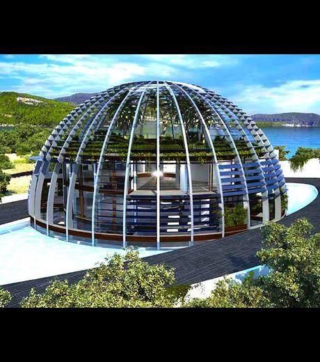 La Villa Oeil D Horus Ecolo De Naomi Campbell En Images Maison De Star Maison A Dome Maison Bulle