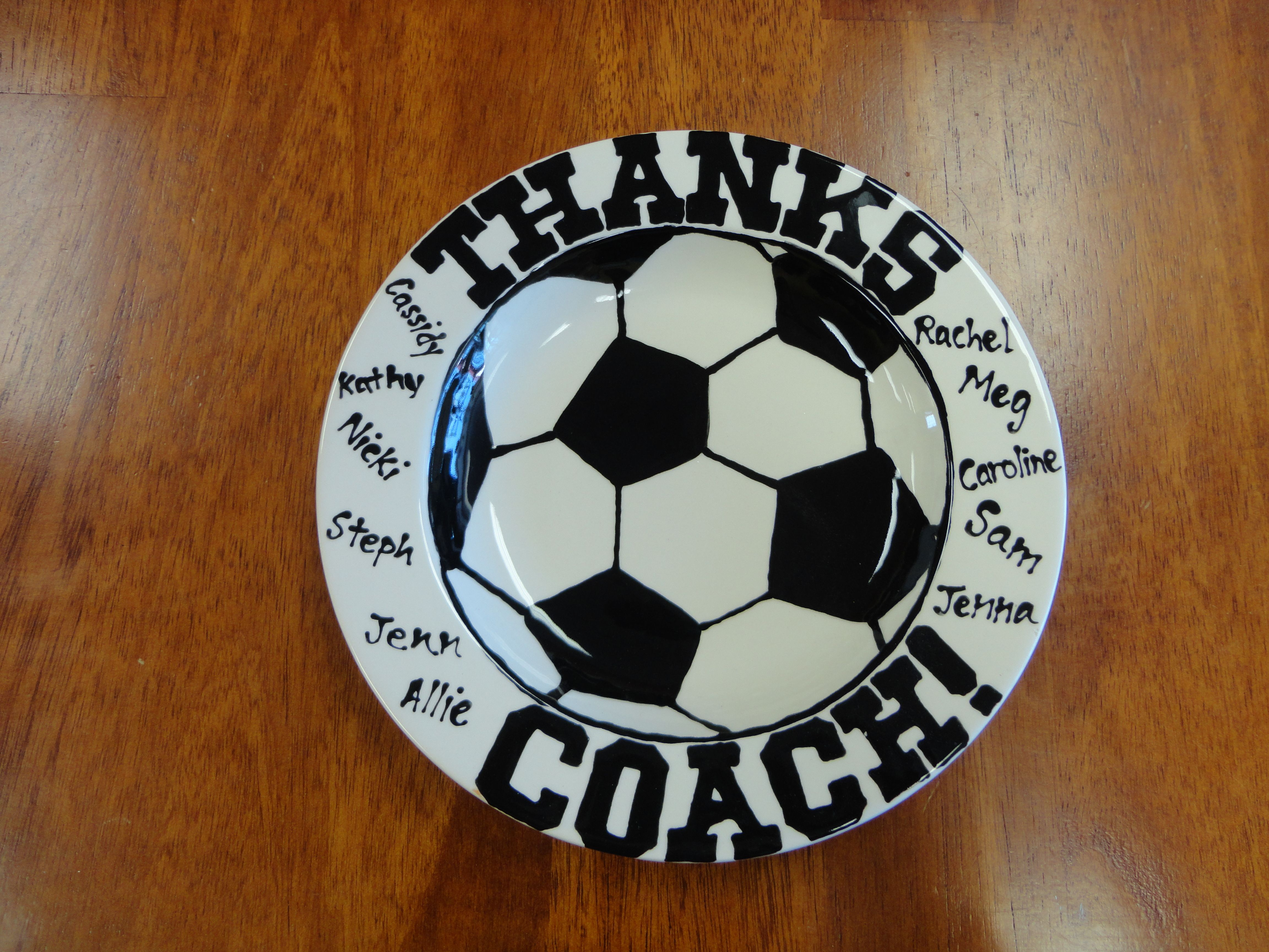 Coach gift made at paint a piece in commack teacher gifts coach gift made at paint a piece in commack negle Choice Image
