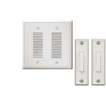 Awesome Nicor Recessed Mounted Prime Chime Doorbell Kit With Front And Back Door  Chimes, White