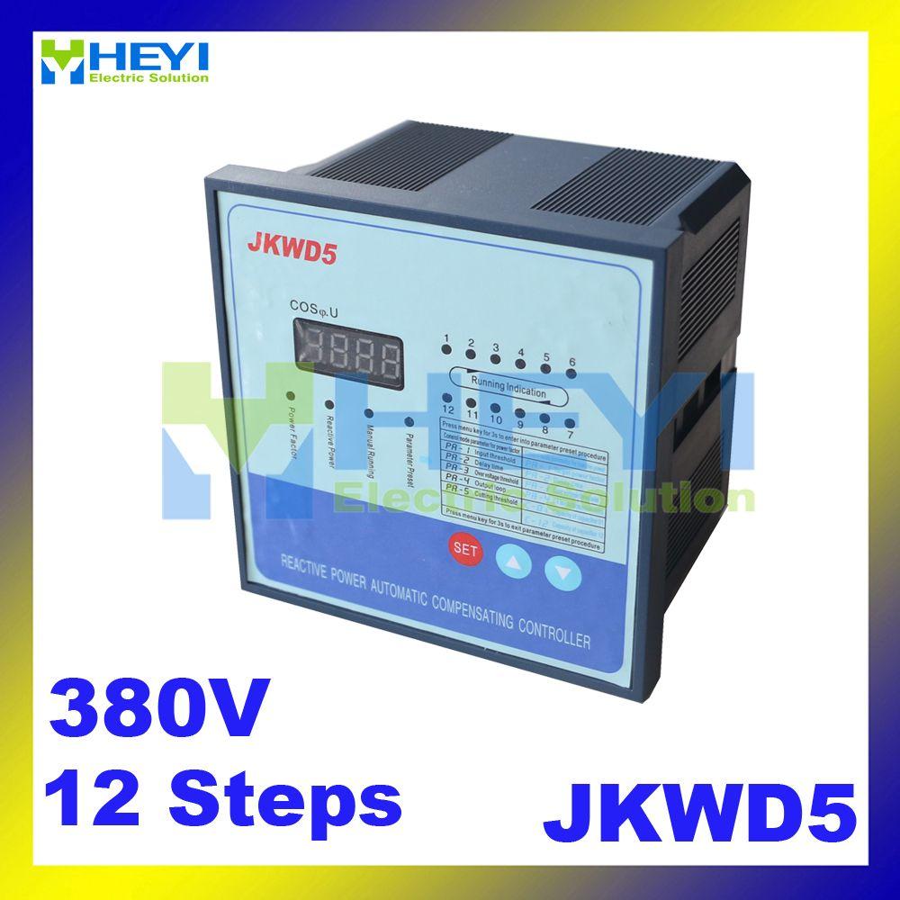 Jkwd5 380v 12steps Power Factor Controller Dynamic Type Sensitive Harmonic Circuit Input Reactive Power Compensation Controller Circuit Power Compensation