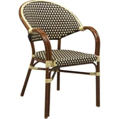 G & A Commercial Seating 815AR Stacking Arm Chair