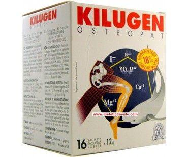 Kilugen Osteopat de Kiluva. El cartílago de tiburón Kilugen osteopat Kiluva está indicado para casos de osteoporosis, artritis, artrosis, degeneración articular, ciática, procesos degenerativos de las articulaciones. Compralo en www.icurae.com #complementos #dieteticos