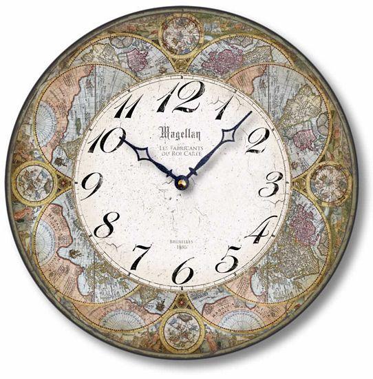 Antique Olde World Map Clock Clock Antique Style Antiques