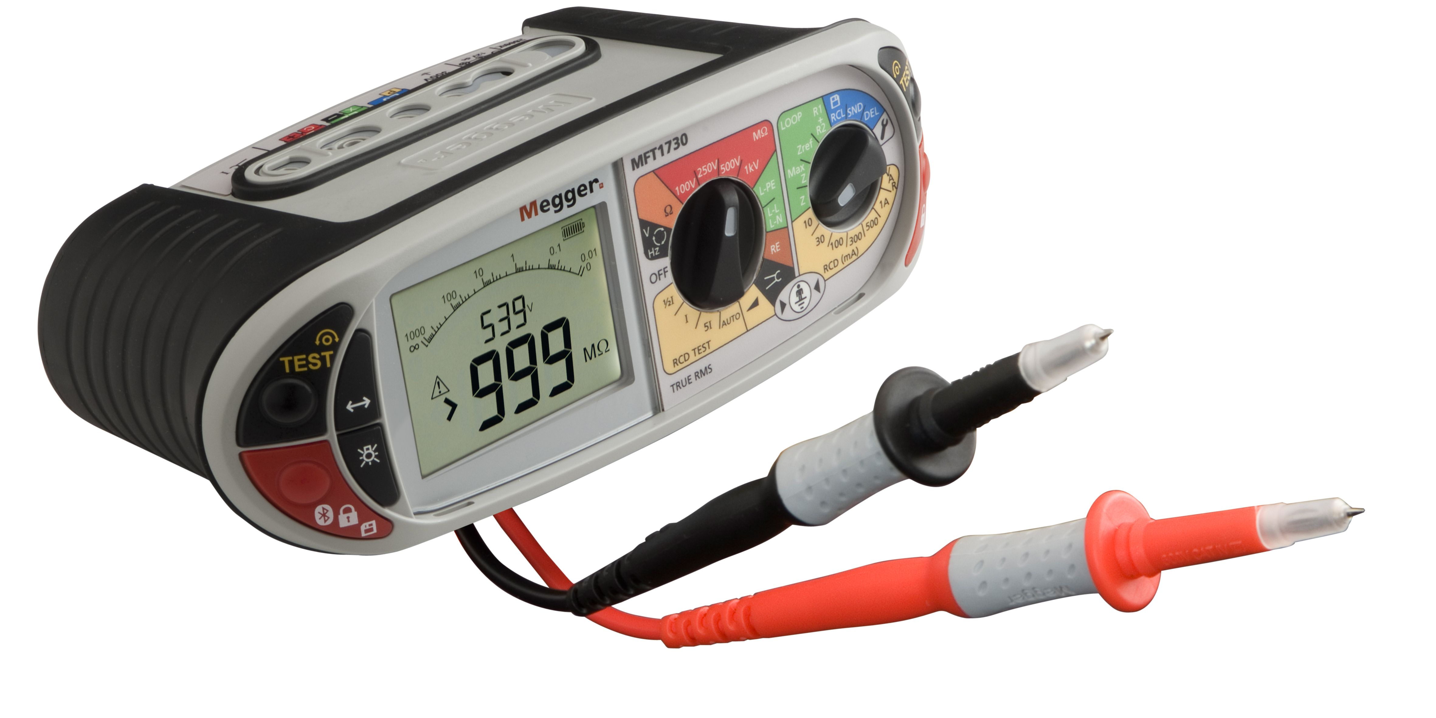 Megger Mft1730 Multifunction Tester For Checking And Certifying Electrical Installations To The Uk 17t Electrical Installation Installation Digital Alarm Clock