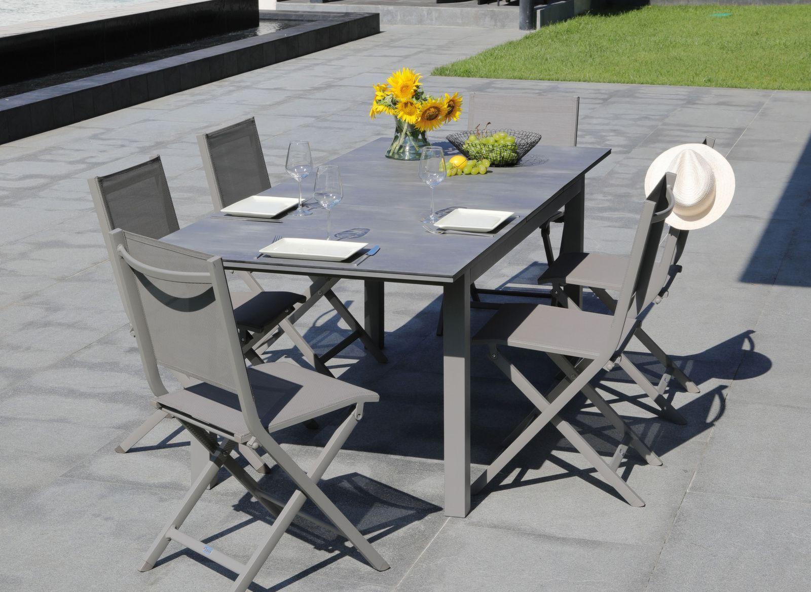 Table Moora 160/210 cm, plateau Arpa | Table de jardin - nouveautés ...