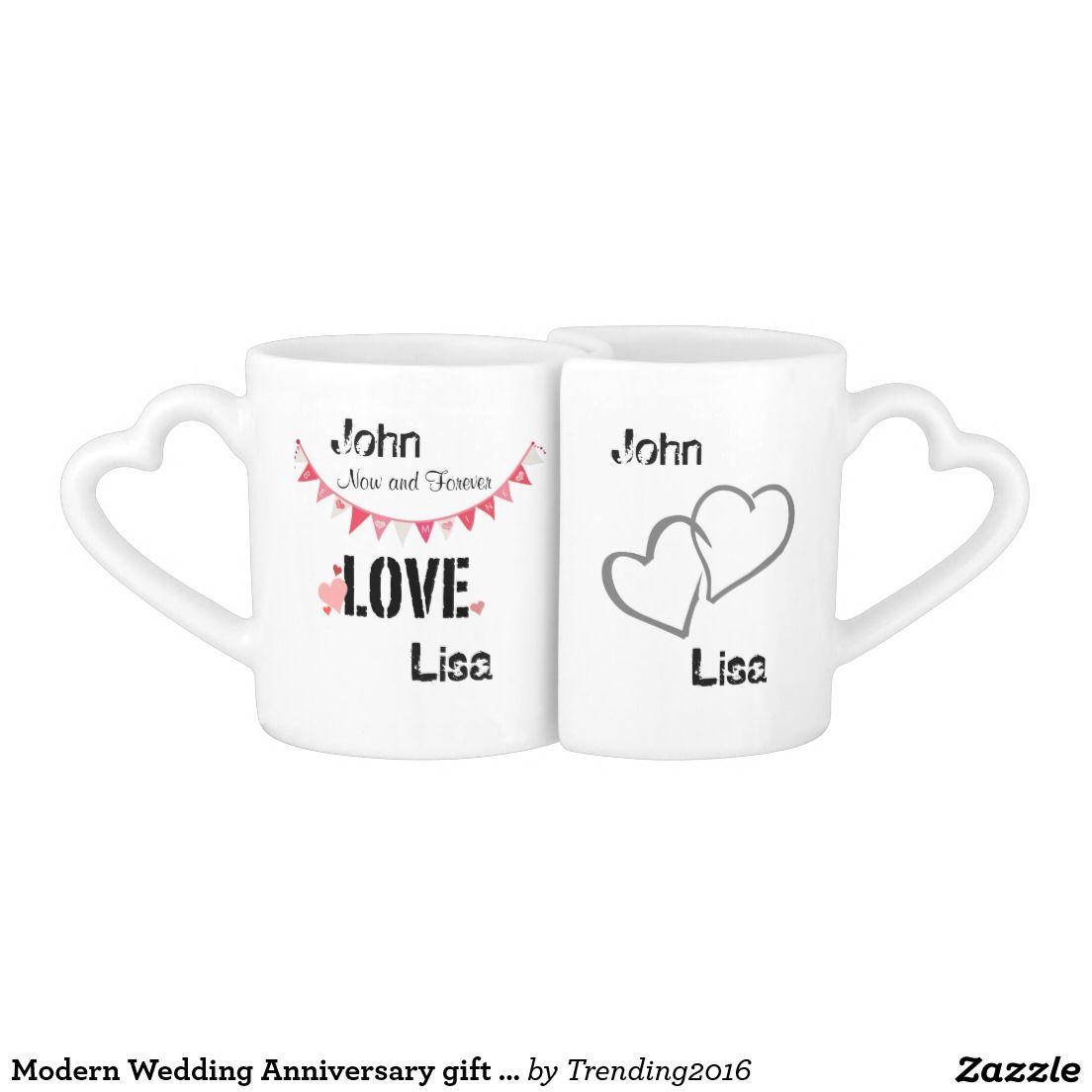 Any years Wedding Anniversary gift his and hers Coffee Mug Set ...