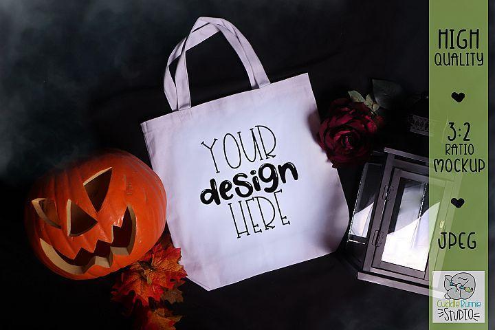 Download Halloween Mockup Pumpkin Lantern Canvas Tote Bag Mockup 300954 Seasonal Design Bundles Bag Mockup Seasonal Designs Mockup Design