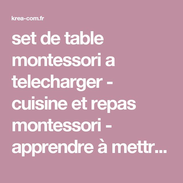 set de table montessori a telecharger cuisine et repas montessori apprendre mettre le. Black Bedroom Furniture Sets. Home Design Ideas