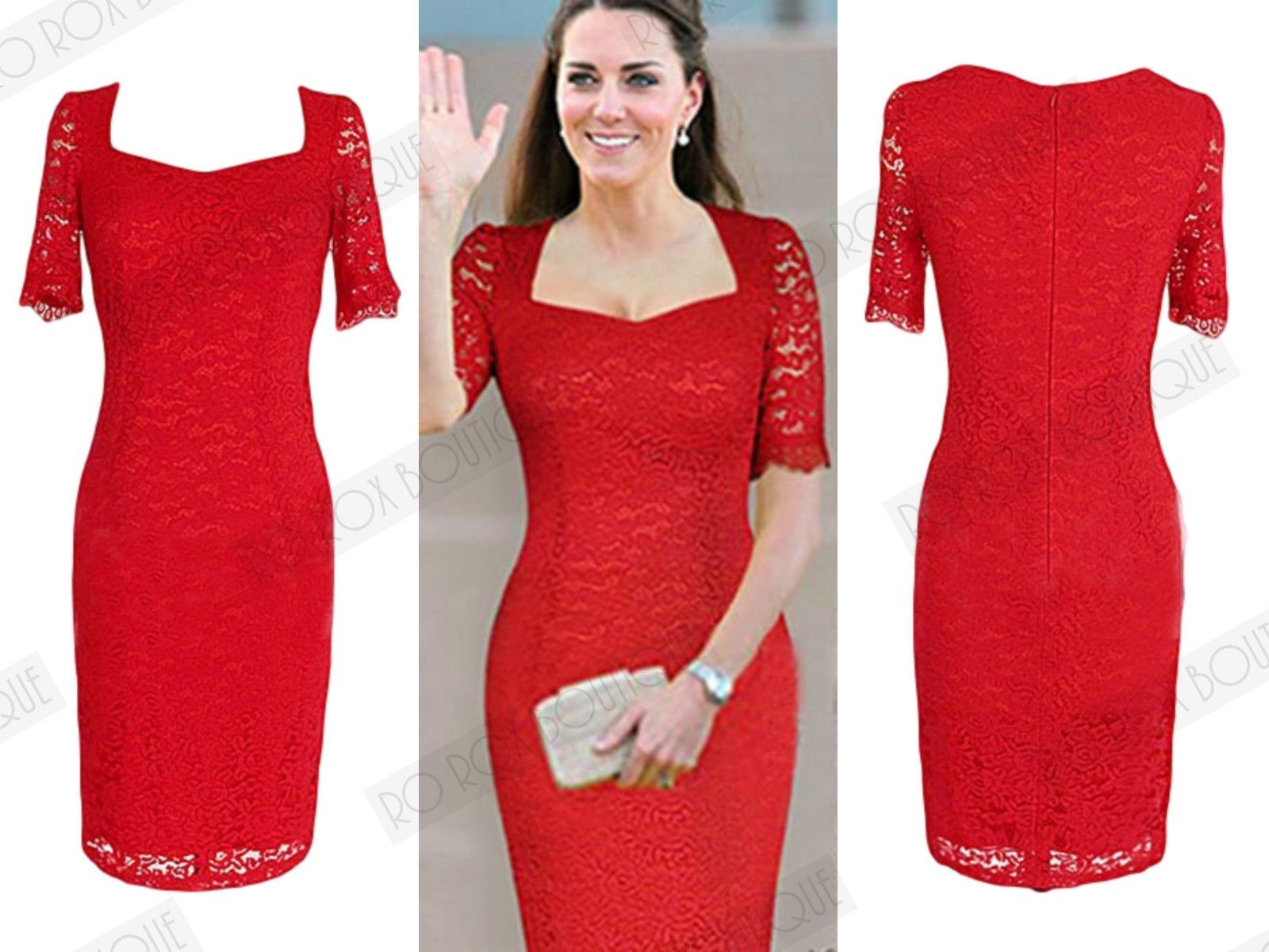 723eaf35 Rojo Vestido Ajustado Encaje Estilo Vintage 1950s De Tubo Con Movimiento    Ropa, calzado y complementos, Ropa de mujer, Vestidos   eBay!