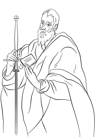 St Paul Coloring Page