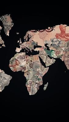 Money Map Mapa mundi, Mapa, Wallpaper de viagens