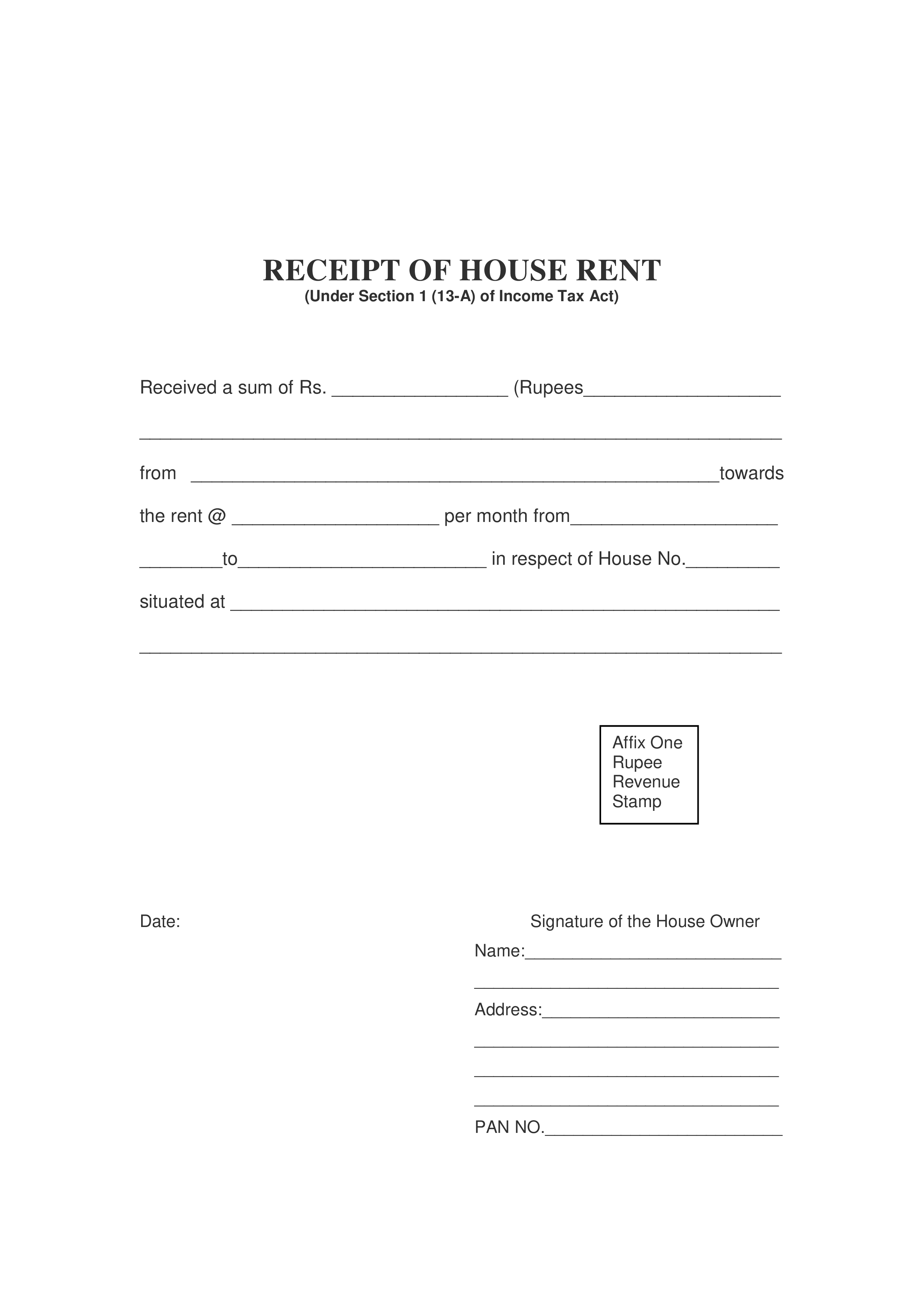 House Rent Receipt How To Create A House Rent Receipt Download This House Rent Receipt Template Now Receipt Template Invoice Template Invoice Template Word