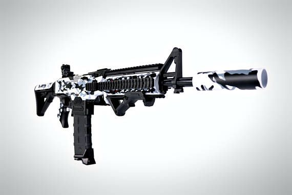 Nerf Stryfe M4 Arctic black camo Version 2