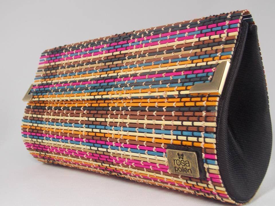 067f4be4c Bolsa bambu colorido <br> <br>Medidas: 30 x 17 x 6 cm   BOLSAS ...
