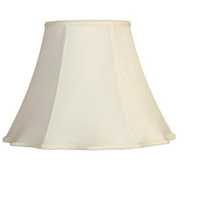 Mario Industries White Round Out Scallop Single Replacement Lamp Shade 93996 The Home Depot Replacement Lamp Shades Lamp Shade Lamp