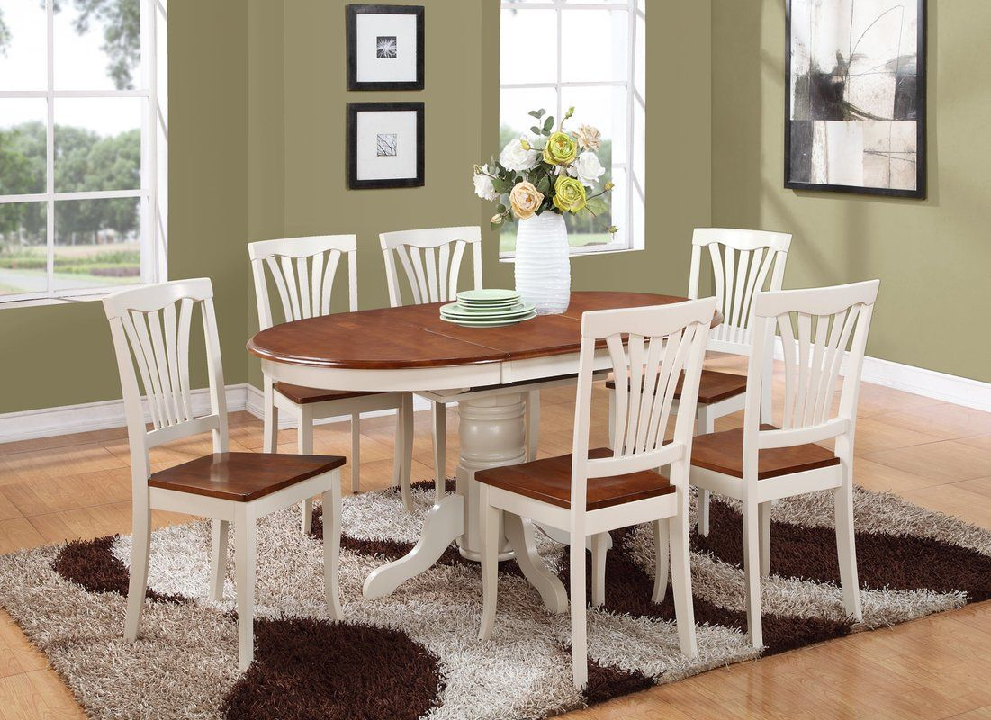 Norris 7 Piece Extendable Solid Wood Dining Set With Images