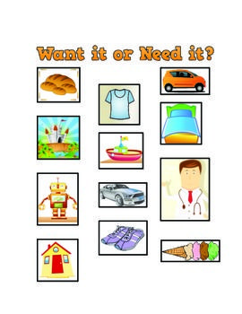 Worksheets Needs And Wants Worksheet Cut And Paste 1000 images about wants vs needs on pinterest economics student and goods services