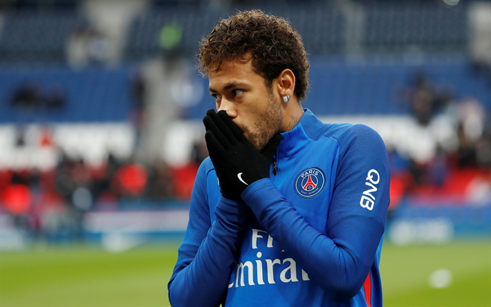 Download wallpapers Neymar Jr, PSG, Paris SaintGermain