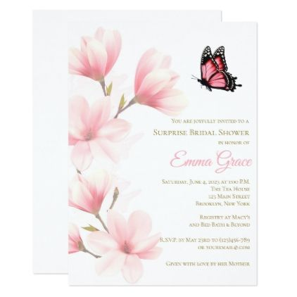 Elegant Floral Bridal Shower Invitation - invitations custom unique diy personalize occasions