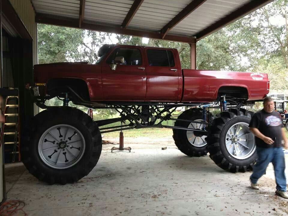 Jacked up Chevy | Old/new trucks, cars, and rigs | Pinterest ...