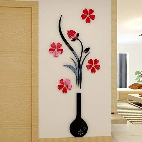 Buy Vishwakarma Art Creations Acrylic 3d 4d Beautiful Red Tree