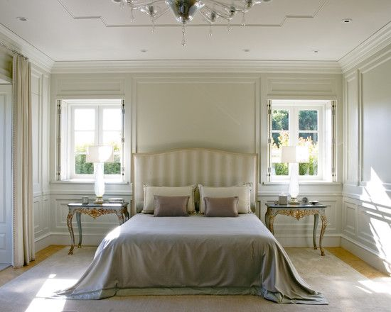 Crown molding ideas for wainscoting and side windows full for Crown molding bedroom ideas