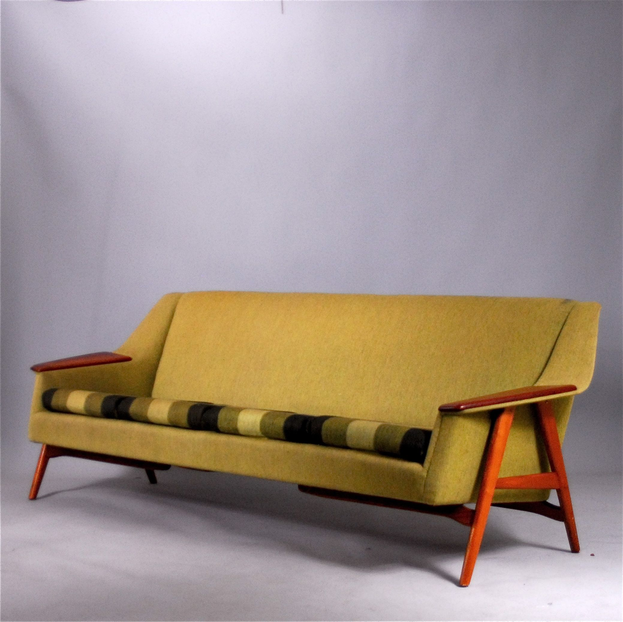 Wilhelm Knoll Teak Sectional Sleeper Sofa for Knoll Germany