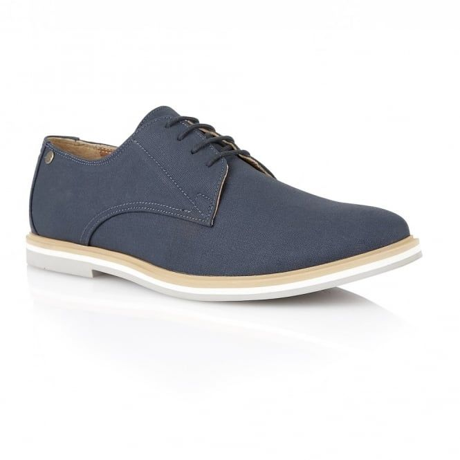 Buy men's Frank Wright Telford Navy Canvas Derby Shoe online