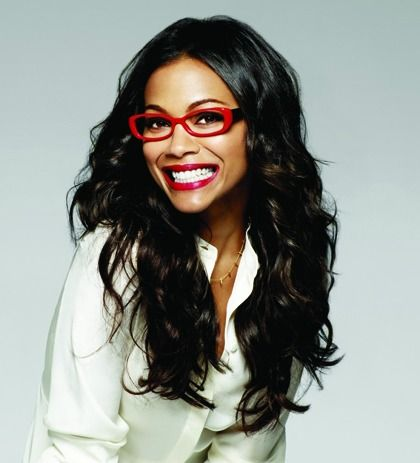 eyewear chic zoe saldana models for lenscrafters